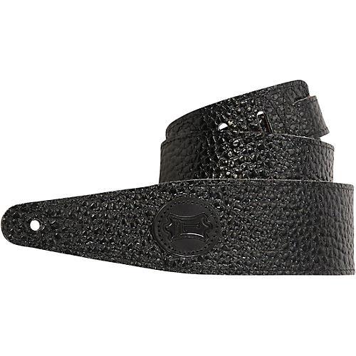 Levy's Pebbled Veg-Tan Leather Guitar Strap Black