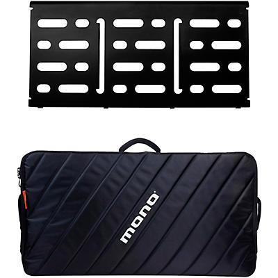 MONO Pedalboard Large, Black and Pro Accessory Case 2.0, Black