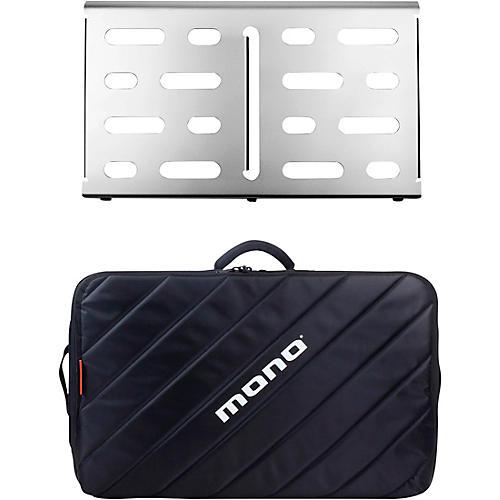 MONO Pedalboard Medium, Silver and Tour Accessory Case 2.0, Black