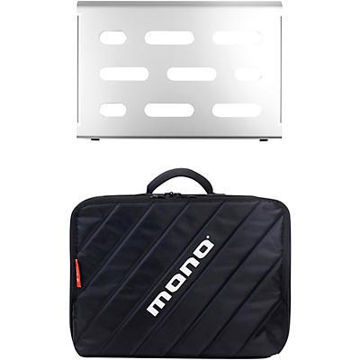 MONO Pedalboard Small, Silver and Club Accessory Case 2.0, Black