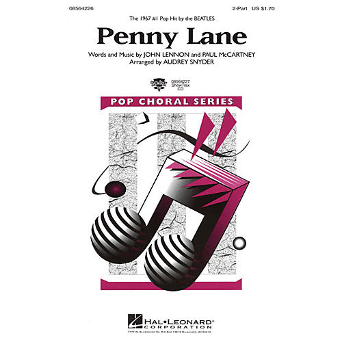 Hal Leonard Penny Lane 2-Part by The Beatles arranged by Audrey Snyder