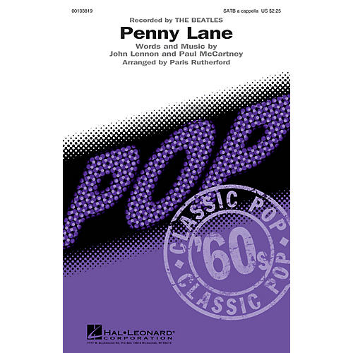 Hal Leonard Penny Lane SATB a cappella by The Beatles arranged by Paris Rutherford