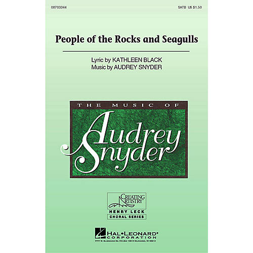 Hal Leonard People of the Rocks and Seagulls SATB composed by Audrey Snyder