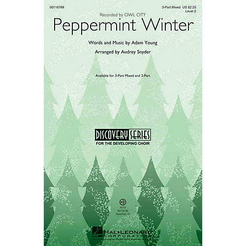 Hal Leonard Peppermint Winter (Discovery Level 2) 2-Part by Owl City Arranged by Audrey Snyder