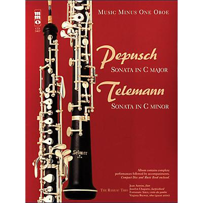 Music Minus One Pepusch - Sonata in C Maj; Telemann - Sonata in C Min Music Minus One BK/CD by Johann Christoph Pepusch