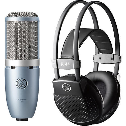 AKG Perception 220 Condenser Mic with K 44 Headphones