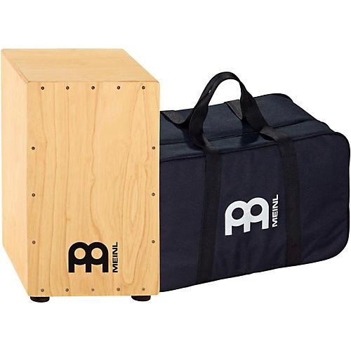 Meinl Percussion HCAJ1NT+BAG Headliner Series Natural Rubber Wood String Cajon with Bag