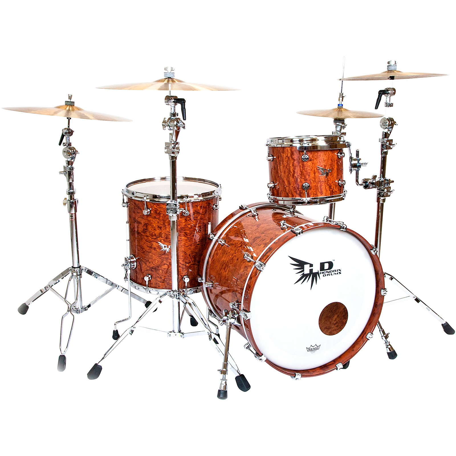 Hendrix Drums Perfect Ply Series Bubinga 3-Piece Shell Pack with 22x16