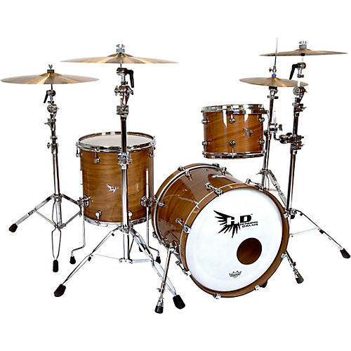 Hendrix Drums Perfect Ply Series Walnut 3-Piece Shell Pack, Fusion Sizes Gloss