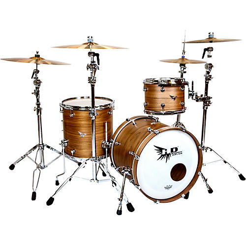 Hendrix Drums Perfect Ply Series Walnut 3-Piece Shell Pack, Fusion Sizes Satin