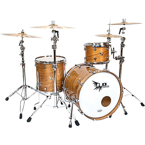 Hendrix Drums Perfect Ply Series Walnut 3-Piece Shell Pack Gloss