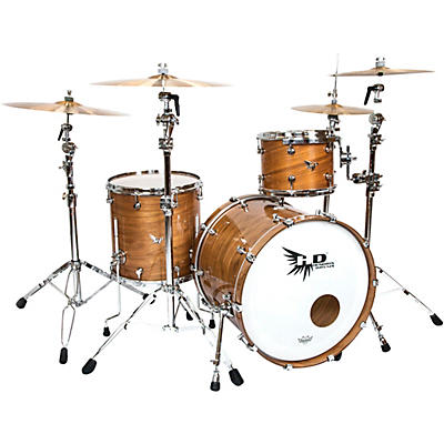"""Hendrix Drums Perfect Ply Series Walnut 3-Piece Shell Pack with 22x16"""" Bass Drum"""