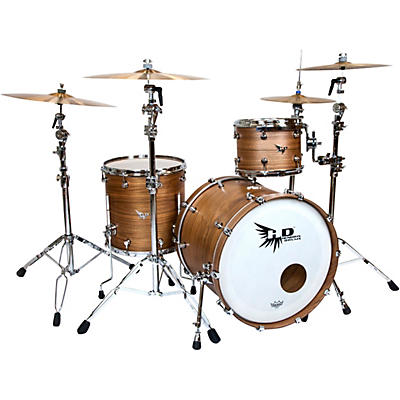 "Hendrix Drums Perfect Ply Series Walnut 3-Piece Shell Pack with 22x16"" Bass Drum"