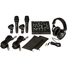 Mackie Performance Bundle with ProFX6v3 USB mixer, EM-89D Dynamic Mics and MC-100 Headphones