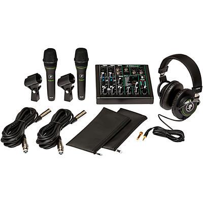 Mackie Performance Bundle with ProFX6v3 USB mixer, EM-89D Dynamic Mics and MC-100 Headphones