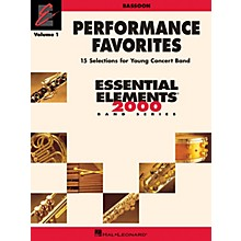 Hal Leonard Performance Favorites, Vol. 1 - Bassoon Concert Band Level 2 Composed by Various