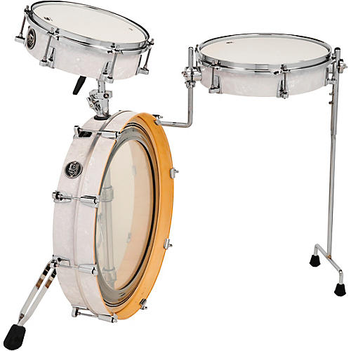 DW Performance Series 3-Piece Low Pro Travel Shell Pack Condition 2 - Blemished White Marine Pearl 194744045370