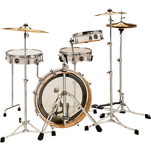 DW Performance Series 4-Piece Low Pro Travel Shell Pack White Marine Pearl