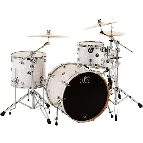 DW Performance Series 4-Piece Shell Pack Condition 1 - Mint White Marine Finish Chrome Hardware