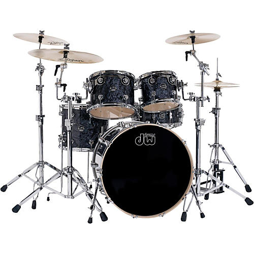 DW Performance Series 5-Piece Shell Pack Black Diamond Finish with Chrome Hardware