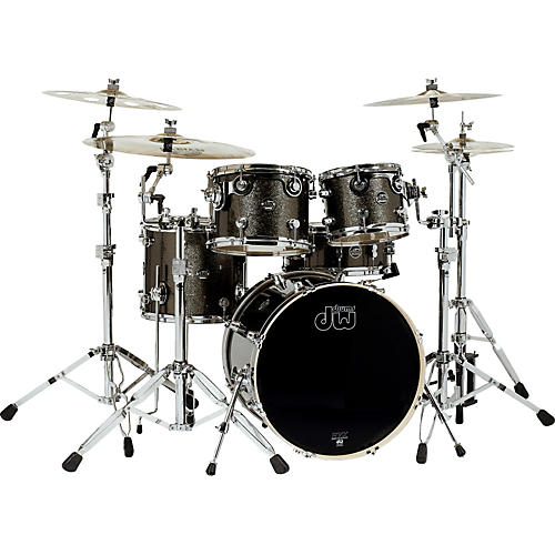 DW Performance Series 5-Piece Shell Pack Condition 1 - Mint Pewter Sparkle with Chrome Hardware