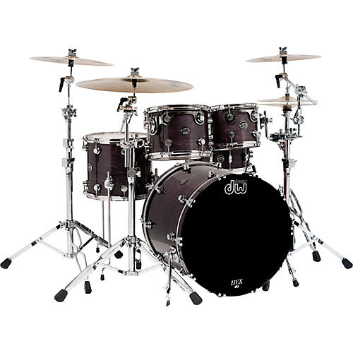 DW Performance Series 5-Piece Shell Pack with Chrome Hardware Ebony Stain Lacquer