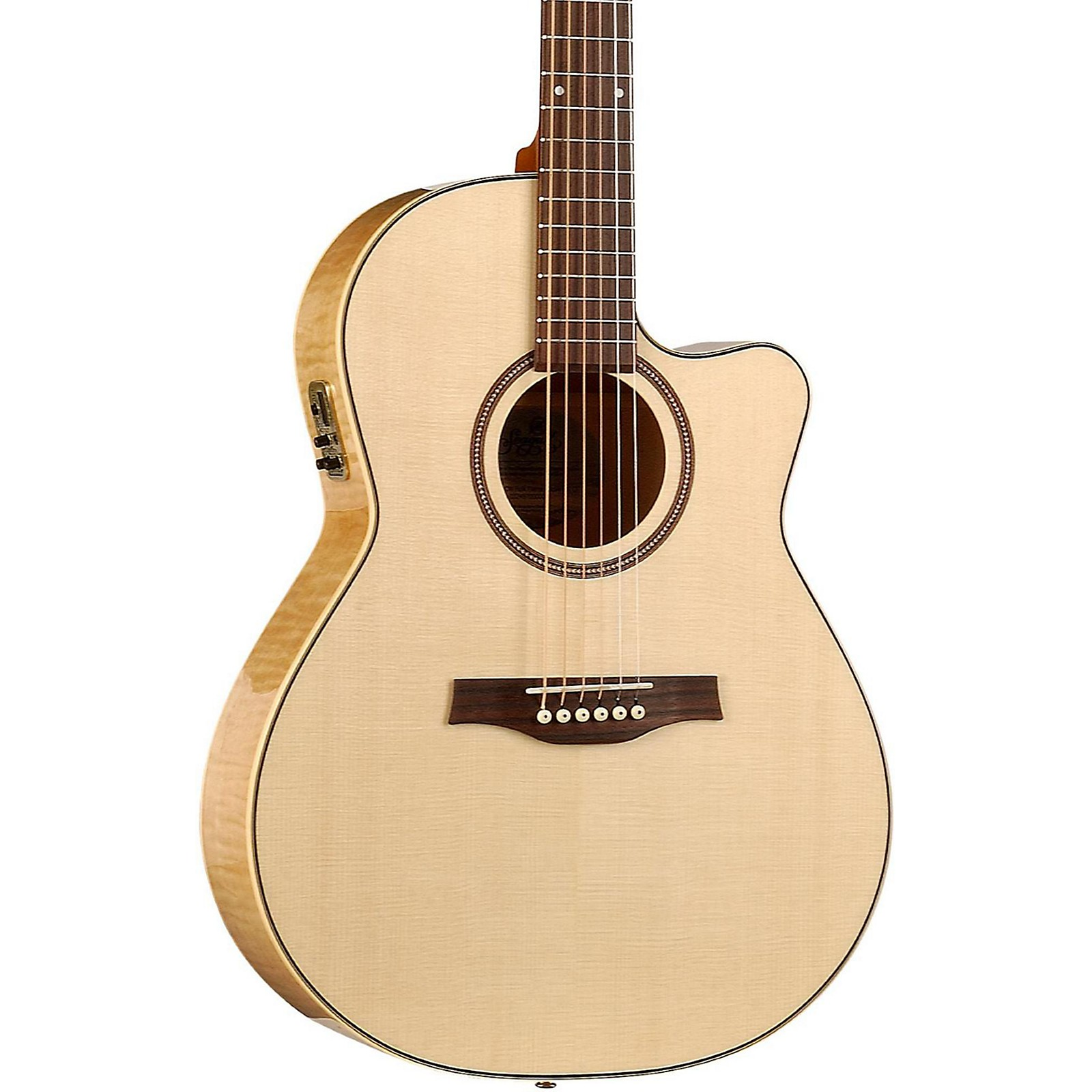 Seagull Performer Cutaway Folk QI Acoustic-Electric Guitar