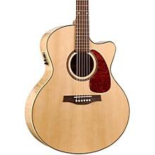 Open BoxSeagull Performer Cutaway Mini Jumbo Flame Maple QI Acoustic-Electric Guitar