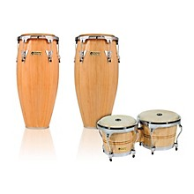 Performer Series 2-Piece Conga and Bongo Set with Chrome Hardware Natural