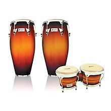 Performer Series 2-Piece Conga and Bongo Set with Chrome Hardware Vintage Sunburst