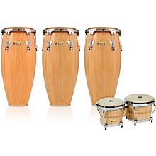 Performer Series 3-Piece Conga and Bongo Set with Chrome Hardware Natural