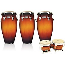 Performer Series 3-Piece Conga and Bongo Set with Chrome Hardware Vintage Sunburst