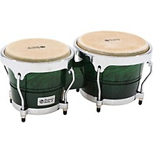 Performer Series Bongos with Chrome Hardware Green Fade