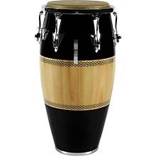 Performer Series Conga with Chrome Hardware 11.75 in. Black/Natural
