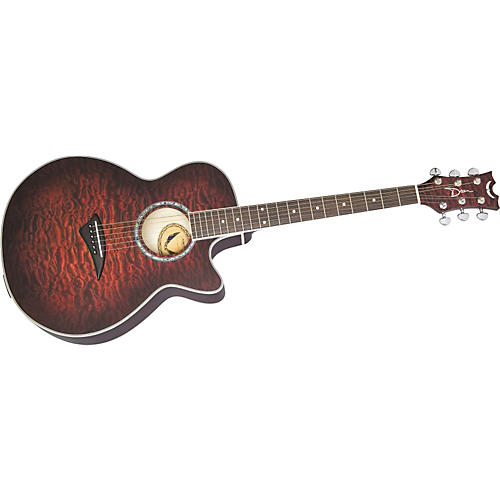 Dean Performer Series PE-QM-TGE Concert Cutaway Acoustic-Electric Guitar