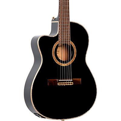 Ortega Performer Series RCE138-T4BK-L Thinline Acoustic Electric Nylon Guitar