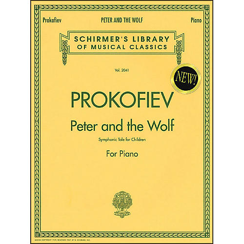 G. Schirmer Peter And The Wolf - Symphonic Tale for Children for Piano By Prokofiev