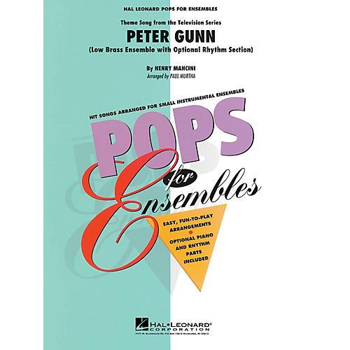 Hal Leonard Peter Gunn (Low Brass Ensemble (opt. rhythm section)) Concert Band Level 2-3 Arranged by Paul Murtha