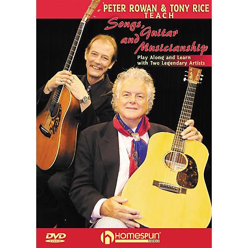 Homespun Peter Rowan & Tony Rice Teach Songs, Guitar, & Musicianship DVD with Tab