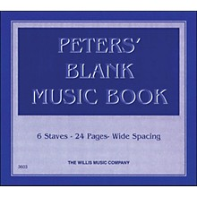 Willis Music Peters' Blank Music Book 1