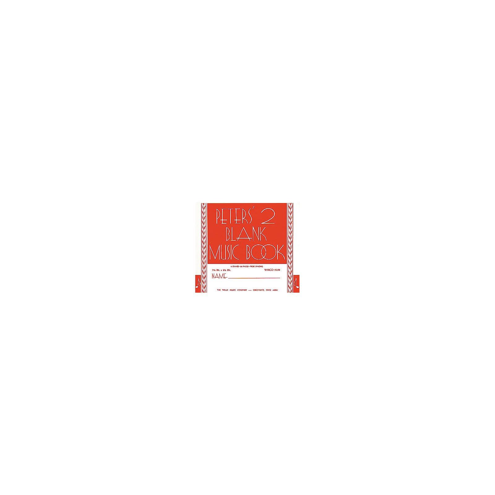 Willis Music Peters' Blank Music Book 2