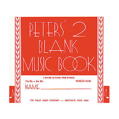 Willis Music Peters' Blank Music Book 2