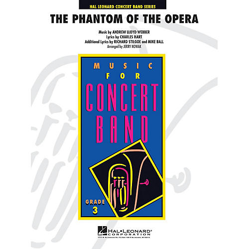 Hal Leonard Phantom of the Opera (Main Theme) - Young Concert Band Level 3 arranged by Jerry Nowak