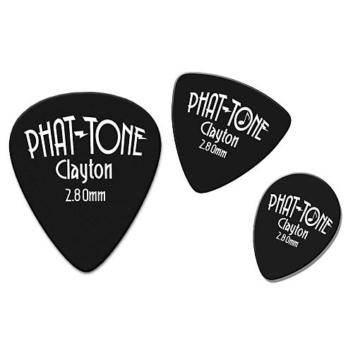 Clayton Phat-Tone Rounded Triangle Rubber Picks 3-Picks