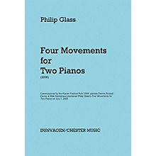 Hal Leonard Phillip Glass - Four Movements For Two Pianos