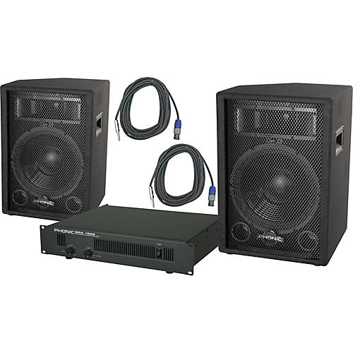 Phonic Phonic S712 / MAX 1000 Speaker and Amp Package