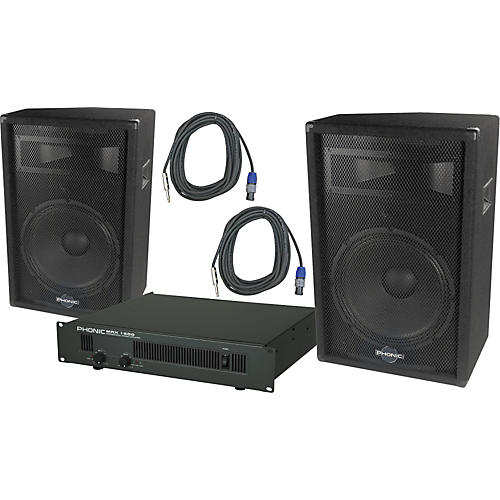 Phonic Phonic S715 / MAX 1600 Speaker and Amp Package