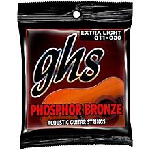 GHS Phosphor Bronze Acoustic Guitar Strings - Extra Light