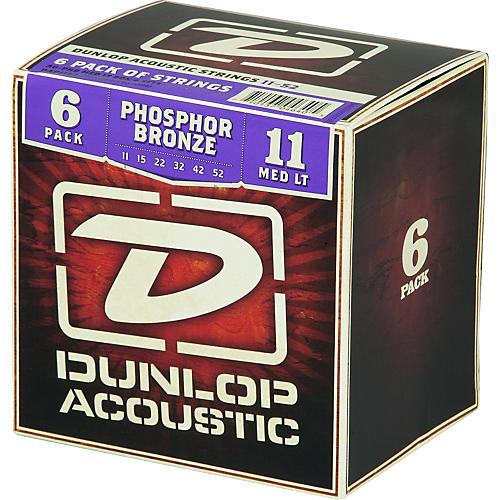 dunlop phosphor bronze acoustic guitar strings medium light 6 pack musician 39 s friend. Black Bedroom Furniture Sets. Home Design Ideas