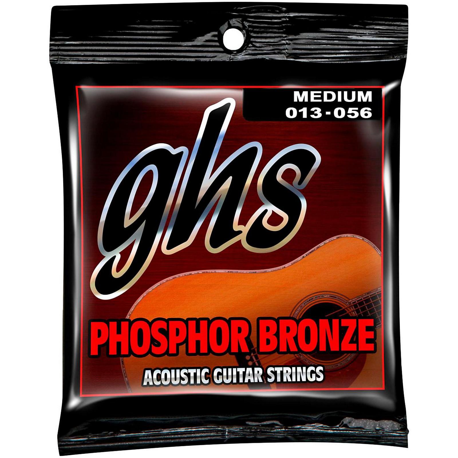 GHS Phosphor Bronze Light Acoustic Guitar Strings (13-56)